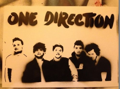 One Direction Spray Painting Art