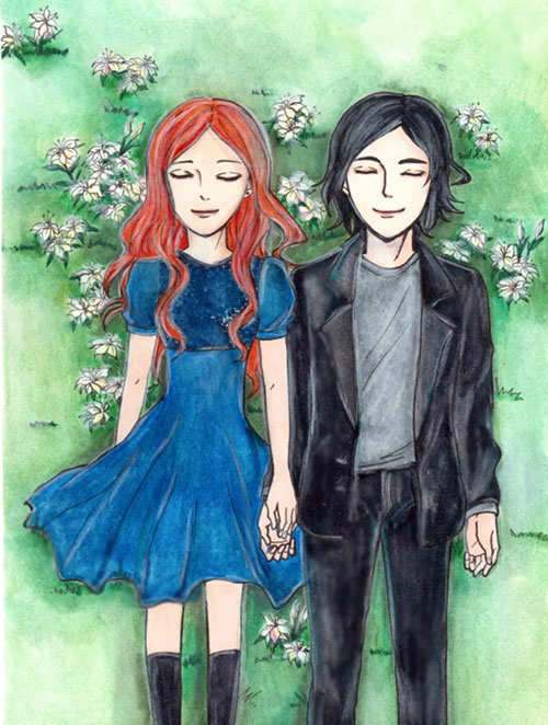 lily evans and severus snape by kzira-d4bfc3o